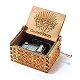 Evelure Caja musical de madera tallada a mano y tallada a mano Creativos los mejores regalos (C)