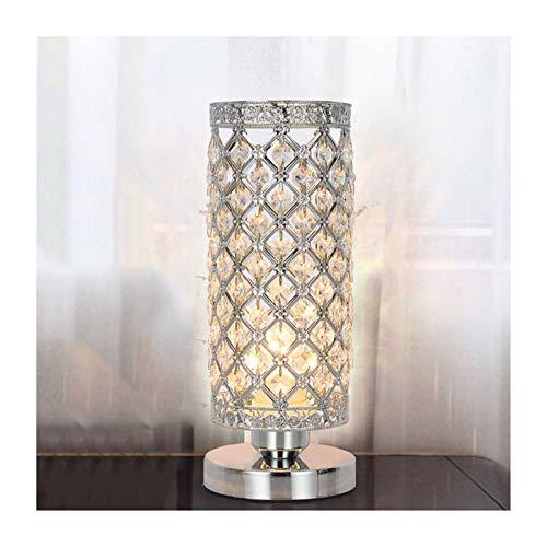 Lámpara De Mesa De Noche De Cristal, Lámparas De Dormitorio Redonda, Lámpara De Mesa para Dormitorio Moderno. XBDTD