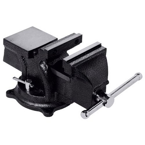 "Bessey BV-HD40 Heavy Duty Bench Vise, 4"", Hammer Tone Gray"