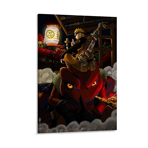 NUOMANAN Naruto Toad Fairy Fairy Mode Manga Cork board canvas wall art 12x18inch(30x45cm) Canvas Prints Paintings Art for Home Decorations Wall Decor Unframed/Frameable