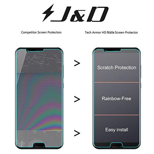J&D Kompatibel für 8er Packung Huawei Honor View 10 Displayschutzfolie, [Antireflektierend] [Nicht Ganze Deckung] Hochwertige Matte Folie Schutzschild Displayschutzfolie für Huawei Honor View 10 - 5