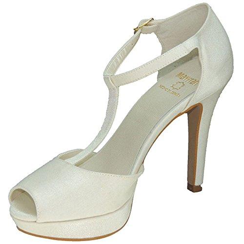 MAYFRAN 5284 Zapato de Novia Tacón 10,5Cm para Mujer