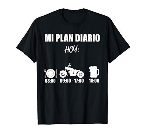 Motocicleta horario diario cerveza motociclista diciendo Camiseta