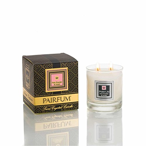 PAIRFUM Luxury Perfume Candle by (50-60 hrs) - Natural, Clean Burn, Healthy - Pink...