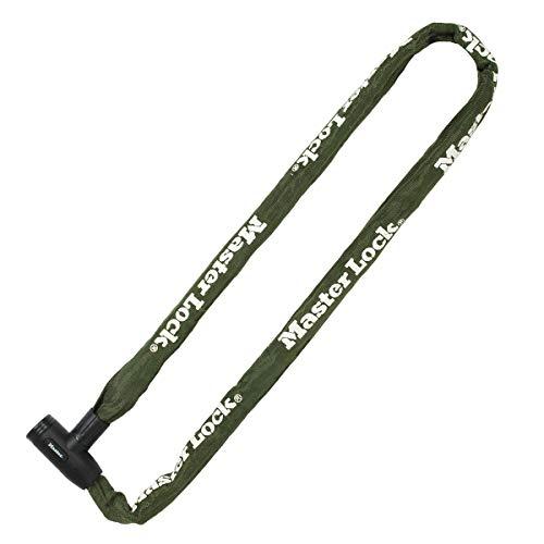 Master Lock 8024EURD Fahrradkettenschloss mit Schlüssel, 150-cm-Kette, grün