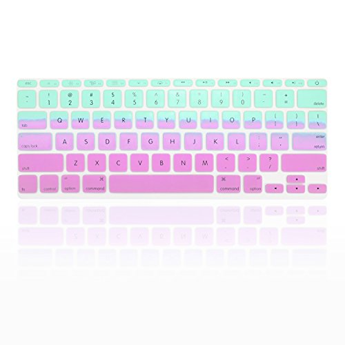 TopCase Faded Ombre Series Hot Blue & Purple Silicone Keyboard Cover Skin for Macbook Air 11 with TopCase Mouse Pad by TOP CASE