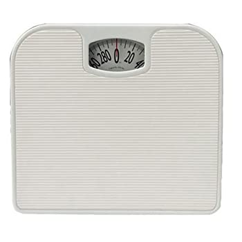 Taylor 20205014 Analog Bath Scale Solid Steel White,