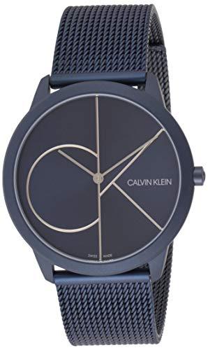 Calvin Klein Herren Analog Quarz Uhr mit Edelstahl Armband K3M51T5N