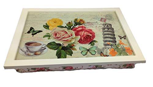 Landhaus kniedienblad roze laptop dienblad bamboe onderlegger klap tafel beddienblad ontbijt dienblad dienblad tafel dienblad