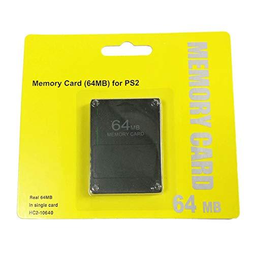 fengzong Hochwertige Ps2-Speicherkarte Neue 64M128M-Speicherkarte 8M16M32M (Schwarz & 64M)