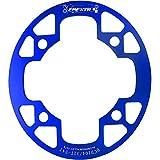 WEIYKUN VTT Vélo manivelle Pédalier VTT Protection du marché Plaquettes de Frein Couvercle de Support Sprocket Grand 32-36T (Color : 104 Blue 36T)