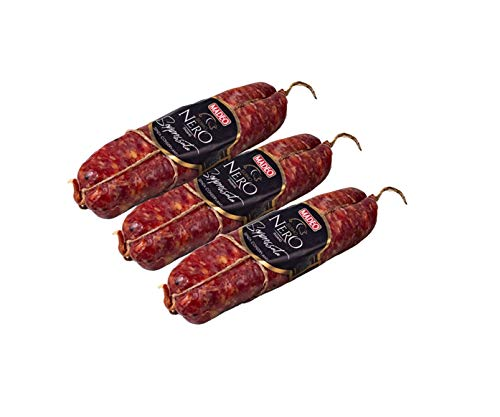 Madeo - Soppressata Dolce di Suino Nero - Carne di Suino Nero Calabrese - Ingredienti Naturali e Locali - 100% di Filiera - Senza Derivati del Latte e Glutine - 900g - Made in Italy