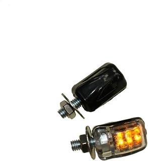 LED Mini Blinker M6, klein schwarz klar E geprüft für Simson KTM Triumph Peugeot Honda Yamaha Suzuki