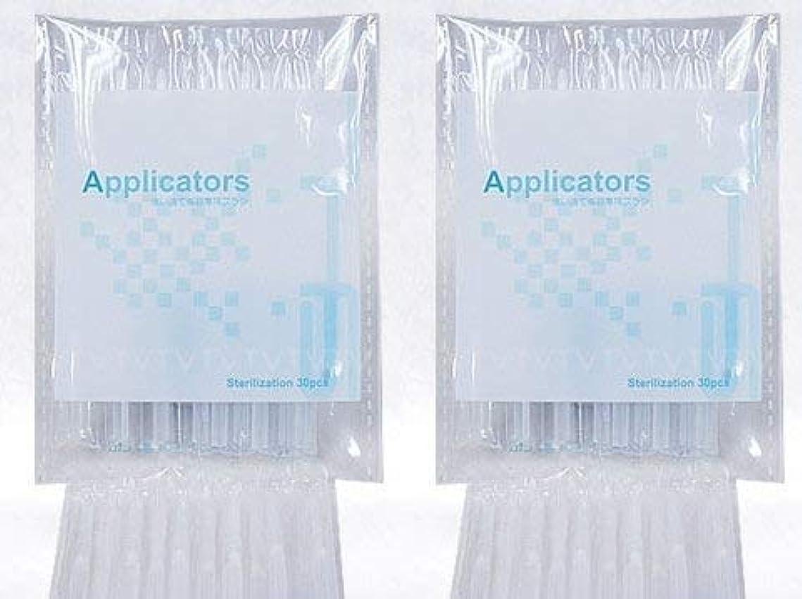 札入れ狂信者間に合わせまつ毛美容液 アプリケーター ブラシ 2袋(80本)