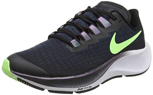 Nike Air Zoom Pegasus 37 (GS), Sneaker, Negro/Lime Blast-Valerian Blue-Blanco, 36 EU