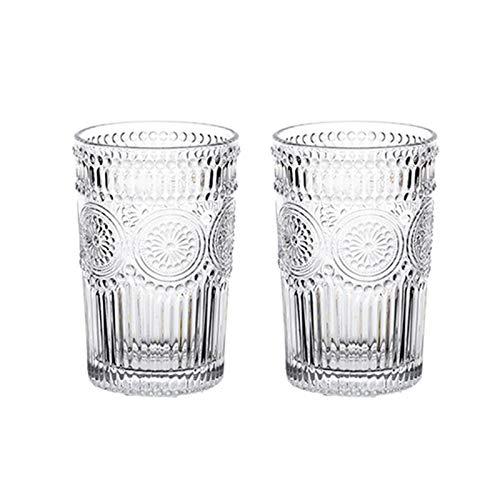 Hs&sure Copa de Vino, Vidrio de Alivio, Gafas de Whisky Conjunto de 2, hogar y Las Fiestas. (Color : 380ML-2 Pieces)