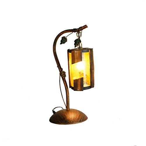 Lámpara de mesa Lámpara de escritorio Lámpara escritorio de cristal retro nórdica, Lámpara de aceite decorativo creativa, Dormitorio lámpara de cabecera Sala de estudio Sala de estar Lámpara de mesa L