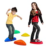 ANSAUCT Stepping Stones for Kids, Balance Stepping Stones River Stones for Kids Indoor and Outdoor Toys to Develop Coordination & Strength Encourage Early Learning Provides Kids Obstacle Course