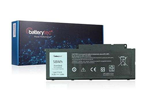 Batterytec Battery for DELL Inspiron 15 7537 17 7737 Series. DELL F7HVR T2T3J G4YJM 062VNH. [14.8V 58Wh, 12 Months Warranty]