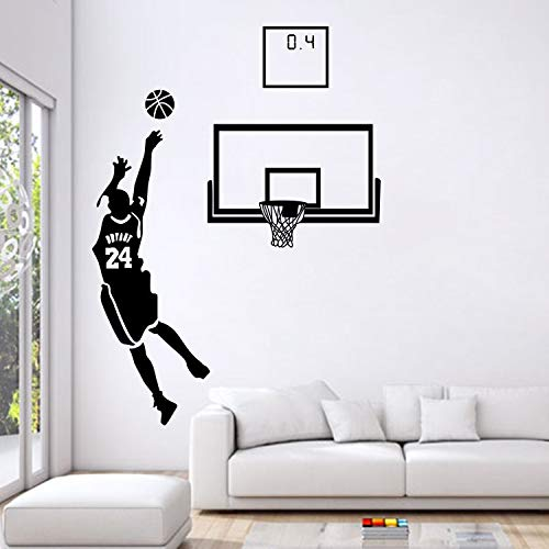 Clásico The Miraculous 0.4s Lore Of Kobe Bryant NBA Baloncesto Deportes Etiqueta de la pared Calcomanía de vinilo Boy Fans Dormitorio Sala de estar Club Decoración para el hogar Mural