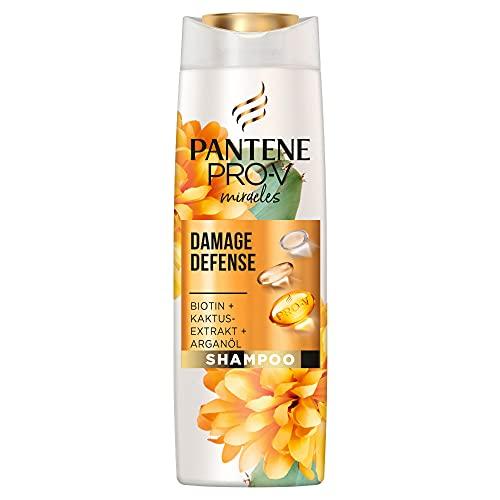 Pantene Pro-V Miracles Damage Defense Shampoo, Mit Biotin, Kaktusextrakt Und Arganöl, Bei Widerspenstigem Haar, Shampoo Damen, Biotin Shampoo, Argan Öl, Arganöl Haare, Haarpflege, Beauty, 250ml