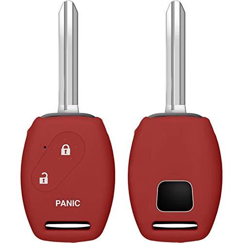PhoneNatic Funda de Silicona para Mando de 2 Botones de Honda Civic/Accord/FIT en Rojo Llave Plegable de 2-Key