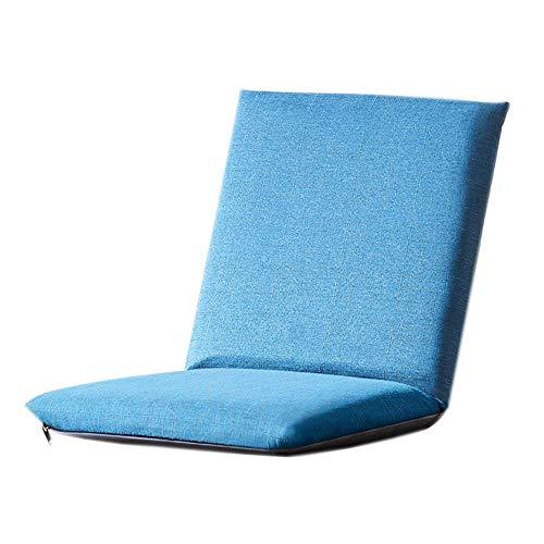 ZYLE Tatami Lazy Sofa Cojín de una Sola habitación Dormitorio Ventana de la bahía Silla Gruesa Azul Diseño extraíble y Lavable 80 × 40 × 6cm