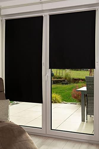 K-home Klemmfix - Tenda oscurante a rullo, 35 x 150 cm, colore: Nero