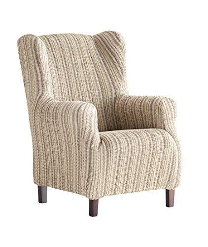 Martina Home Haber Elastic Armchair Cover Wing Chair 33x42x8 cm beig