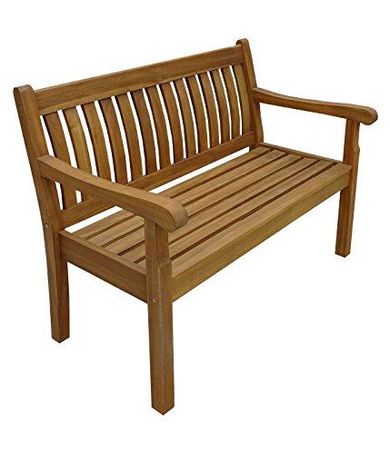 Dehner Gartenbank St. Ives, 2-Sitzer, ca. 120 x 67 x 89 cm, FSC® Akazienholz, geölt, Natur