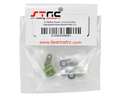 ST Racing Concepts ST3636G STRC Oversized Aluminum Front Steering Knuckles with Bearings (Green)