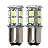 GRV Ba15d 1142 1076 1176 High Bright Car LED Bulb 13-5050SMD AC/ DC12V ~28V Cool White Pack of 2