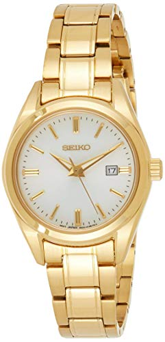 Seiko Quarz Damen-Uhr Edelstahl mit Metallband SUR632P1