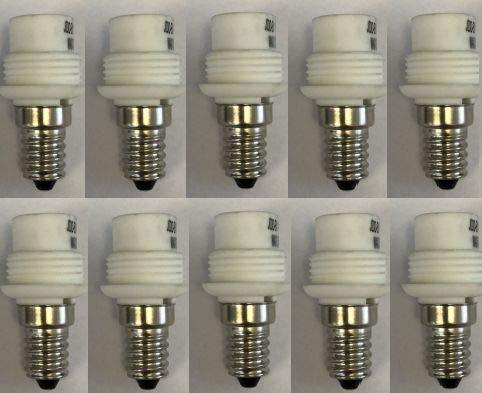 10x KHL E14 auf G9 Adapter Konverter für LED Halogen Energiespar Sparpack