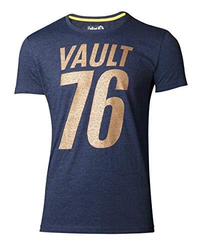 Fallout T-Shirt 76 - Golden 76 Men's T-Shirt Blue-S