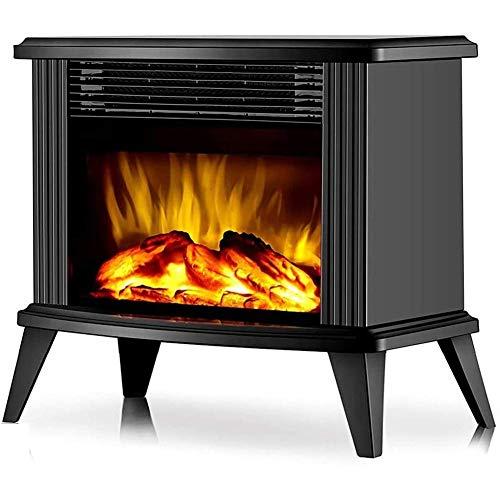 NMYYV Cocina eléctrica, Chimenea Berg Calentamiento por Llama, calentando con Chimenea, Realista 3D Quiet Llama Ajustable del Ventilador