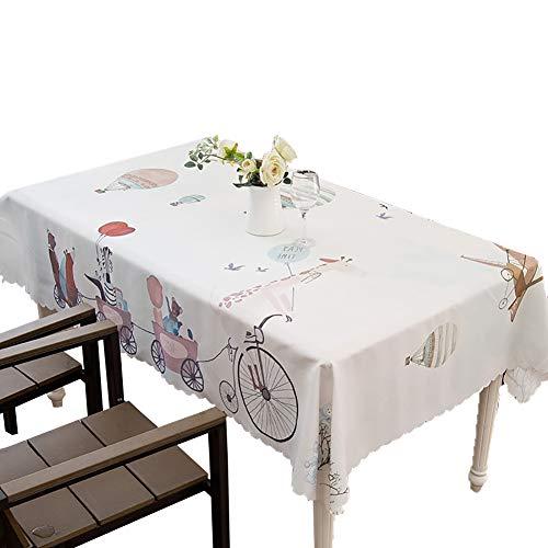 Tissu de table rectangulaire tissu polyester Nappe rectangulaire Idéal pour table de buffet, Très jolie décoration pour, Repas de fête, Mariage & plus-blanc 130x190cm(51x75inch)