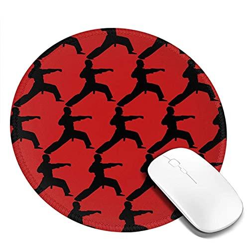 Karate Round Mouse Pad Rutschfeste Mauspads auf Gummibasis Büro- und Heimspiel-Laptop für Computer-Desktops Mouse Pad