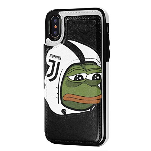 Sa_d-Pepe The-Frog iPhone X iPhone Xs Wallet Case with Card Holder,Premium Pu Leather Kickstand Card Slots Case,Double Magnetic Clasp and Durable Shockproof Cover 5.8 Inch