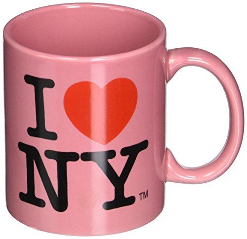 Official Pink I Love NY 11oz Ceramic Mug from New York Mugs Souvenir and Gift Store