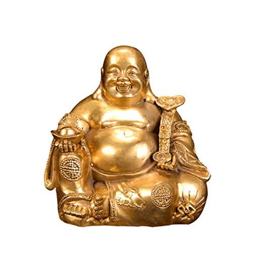 Maitreya Buddha-Statue aus reinem Kupfer, lachende Figuren, Statuen, modernes minimalistisches Design, feine Verarbeitung, Bedeutung günstig, geeignet für die Inneneinrichtung