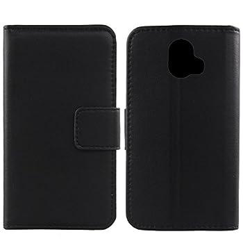 Gukas Design Genuine Leather Case for ZTE Blade V8 Pro Z978 Wallet Premium Flip Protection Cover Skin Pouch with Card Slot  Black
