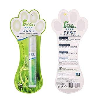 14 ml Spray pour rafraîchisseur d'haleine pour chien, assainisseur d'hygiène buccale à la menthe naturelle, suppression sans brossage de la plaque, tartre et amélioration de la mauvaise haleine.