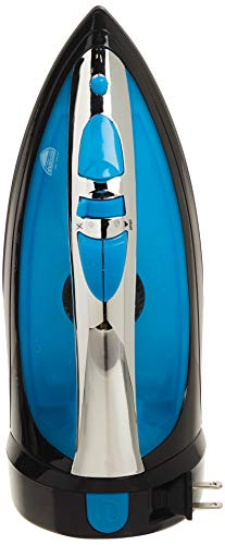 Sunbeam Steam Master 1400 Watt Mid-size Anti-Drip Non-Stick Soleplate Iron with Variable Steam control and 8' Retractable Cord, Black/Blue, GCSBCL-202-000