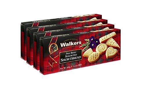 Walkers Shortbread Assorted Shortbread 160g, 4er Pack (4 x 160 g)