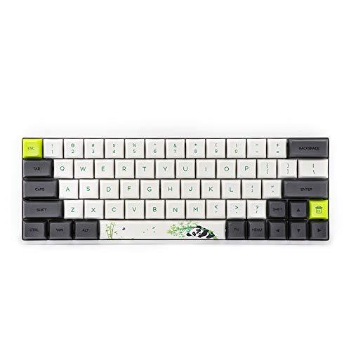 Epomaker SK64 64キー熱昇華プロセスを経ったメカニカルキーボード RGBバックライト&PBTキーキャップ&Arrowキーが搭載され 防塵機能をもって Win/Mac/Gamingなどに対応でき有線メカニカルキーボード (Gateron青軸, ホワイト‐Panda)