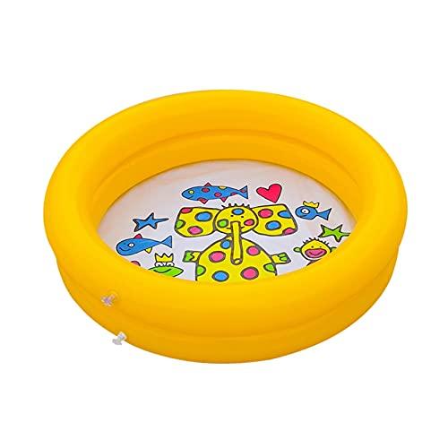 LJLCD Piscina Infantil Kiddie portátil Inflable bebé Piscina Piscina jardín Encantador bañera bañera Animal Impreso Centro de Juego Interior al Aire Libre Redondo Fácil de Usar, Almacenamiento