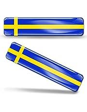 2 x sticker 3D gel silicone stickers Sweden vlag Zweden vlag vlag vlag vlag autosticker F 22