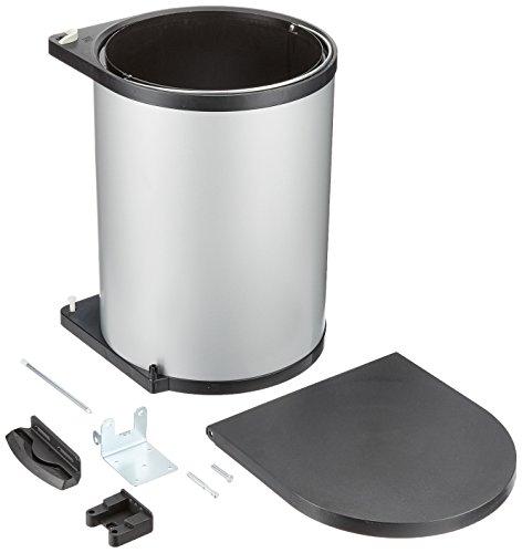 Wesco 010612 – 11SCA Recogedor, 15 litros, Metal, Plata/Negro, 38 x 30 x 30 cm