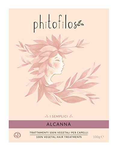 PHITOFILOS - Coloration Végétale Rouge - Traitemente 100% Naturel pour Intense Nuances avec Alkanet - 100 gr